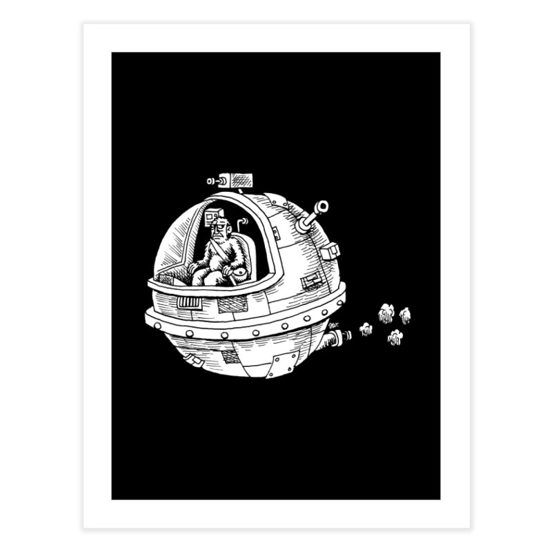 Spacefaring Yeti is in Space Home Fine Art Print by Anthony Woodward's Artist Shop