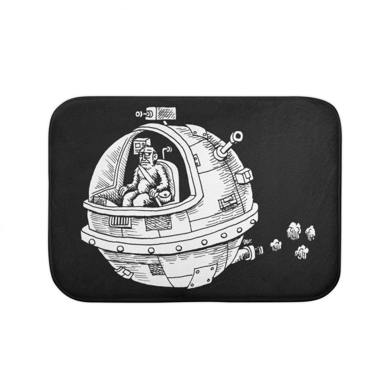 Spacefaring Yeti is in Space Home Bath Mat by Anthony Woodward's Artist Shop