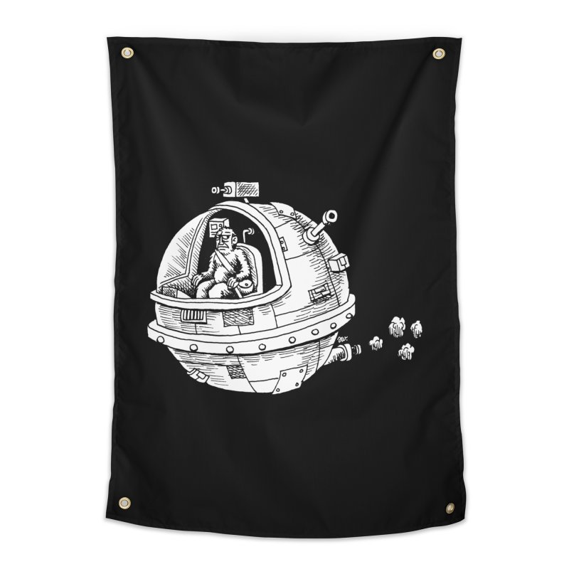 Spacefaring Yeti is in Space Home Tapestry by Anthony Woodward's Artist Shop