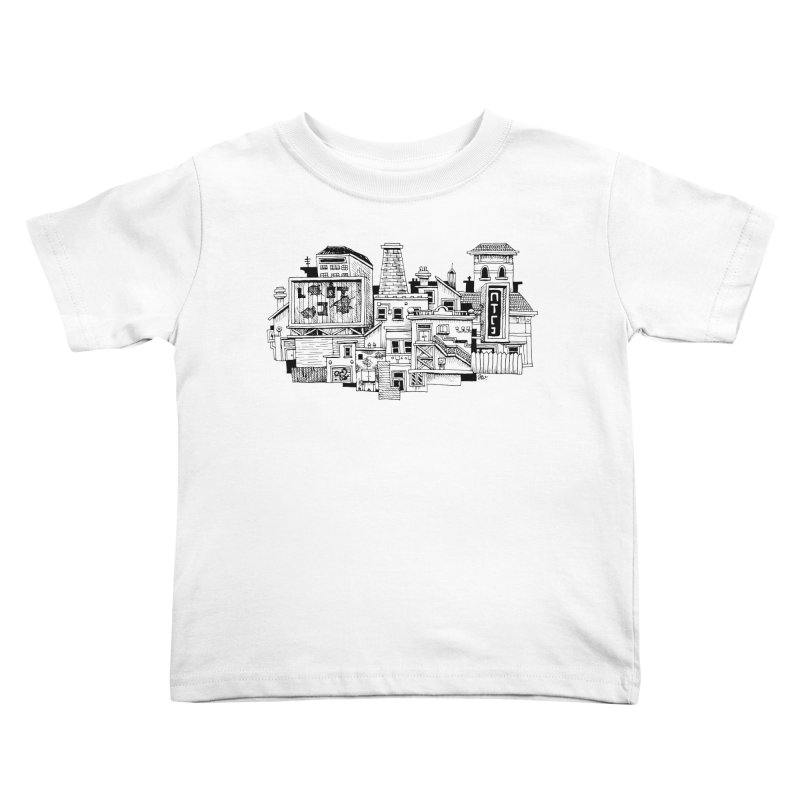 New Town Kids Toddler T-Shirt by Anthony Woodward's Artist Shop