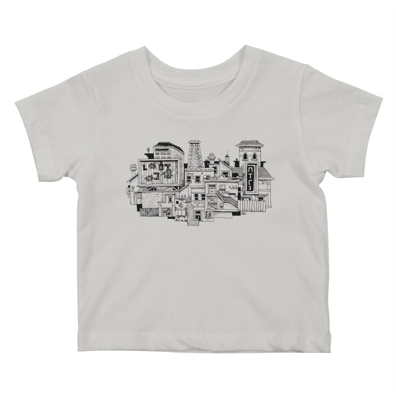 New Town Kids Baby T-Shirt by Anthony Woodward's Artist Shop
