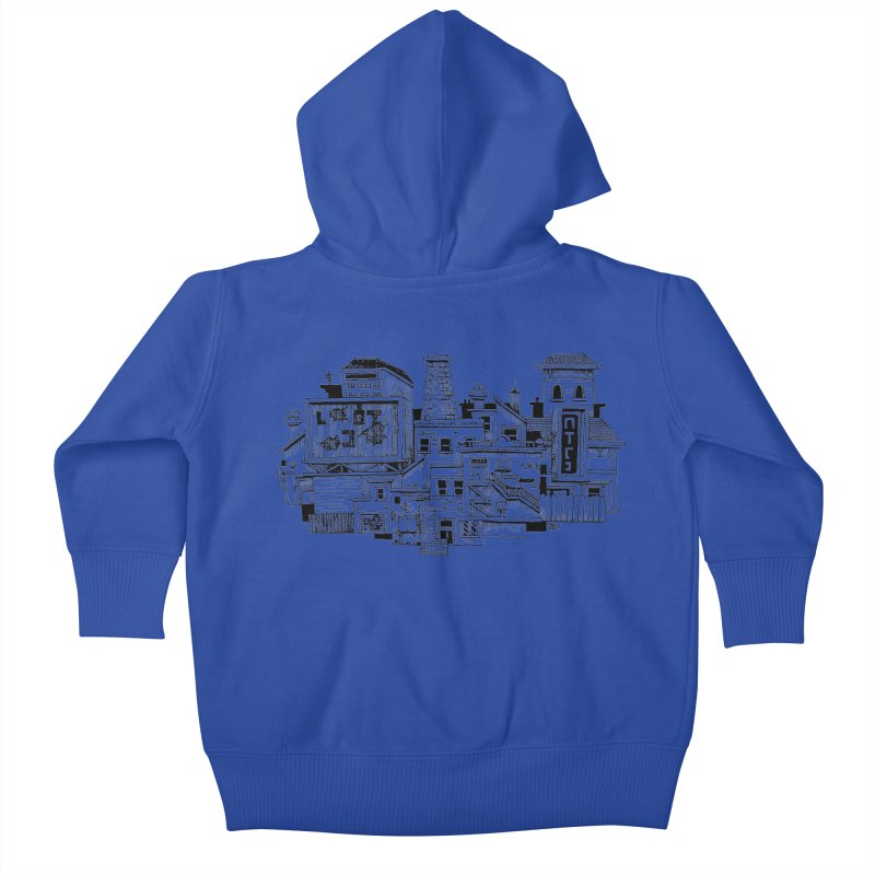 New Town Kids Baby Zip-Up Hoody by Anthony Woodward's Artist Shop