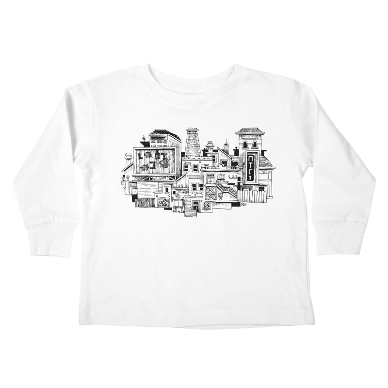 New Town Kids Toddler Longsleeve T-Shirt by Anthony Woodward's Artist Shop