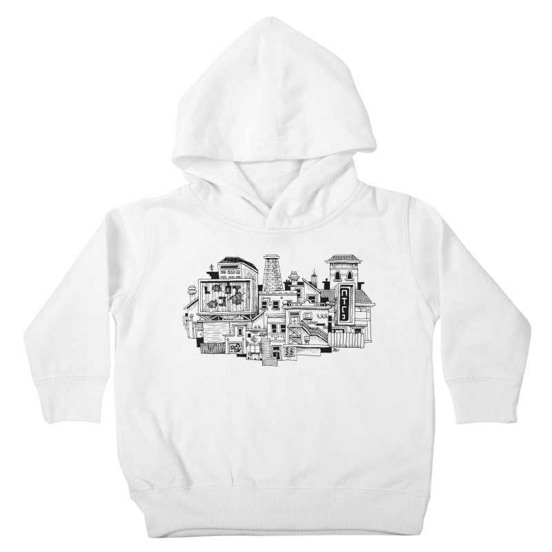 New Town Kids Toddler Pullover Hoody by Anthony Woodward's Artist Shop