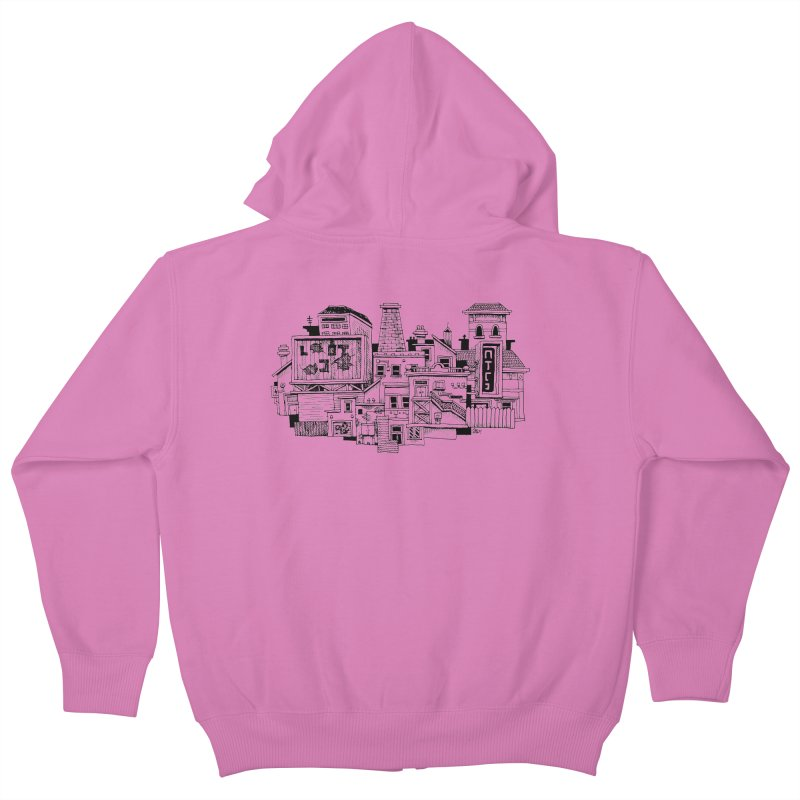 New Town Kids Zip-Up Hoody by Anthony Woodward's Artist Shop