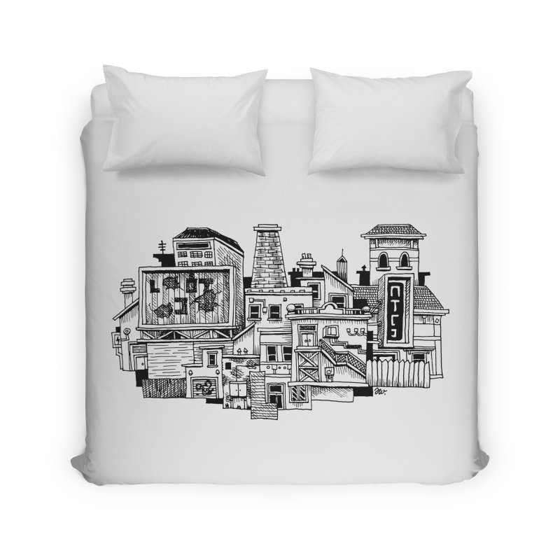 New Town Home Duvet by Anthony Woodward's Artist Shop