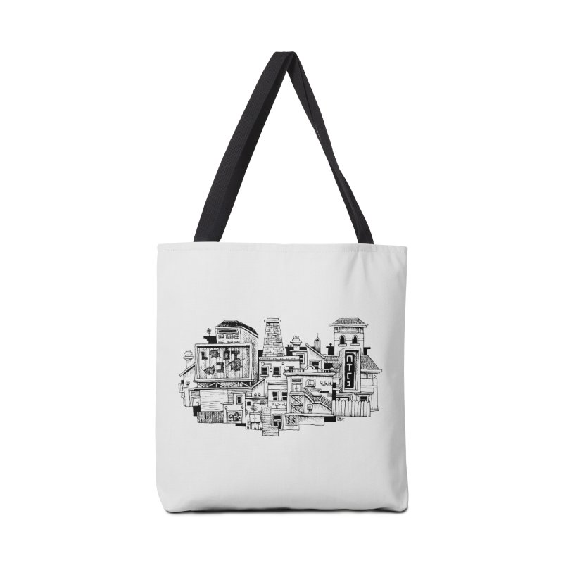 New Town Accessories Bag by Anthony Woodward's Artist Shop