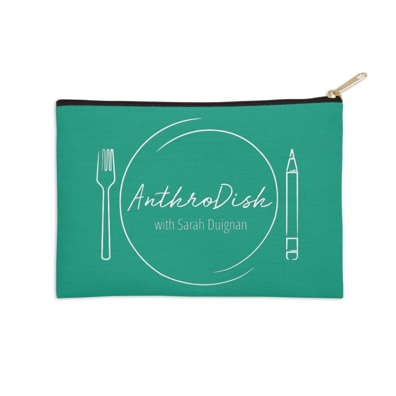 AnthroDish Logo Shirt Accessories Zip Pouch by AnthroDish's Artist Shop