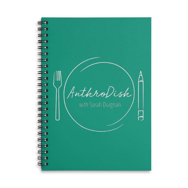 AnthroDish Logo Shirt Accessories Lined Spiral Notebook by AnthroDish's Artist Shop