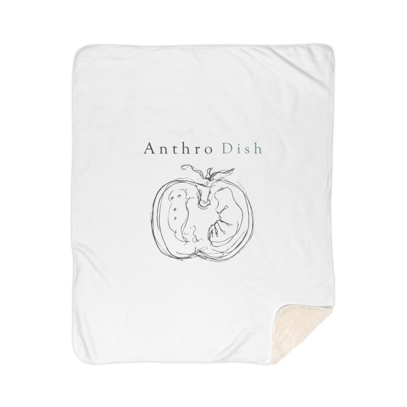AnthroDish Izzy Tomato Home Sherpa Blanket Blanket by AnthroDish's Artist Shop