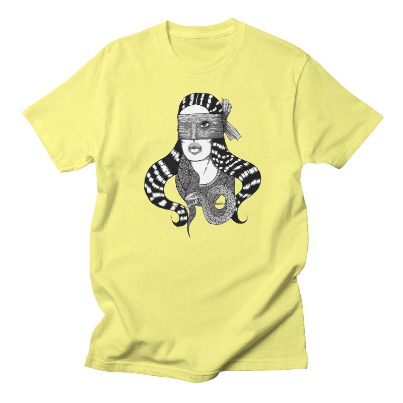 Snake Scarf (Black & White) Men's T-Shirt by Evolve-R Apparel