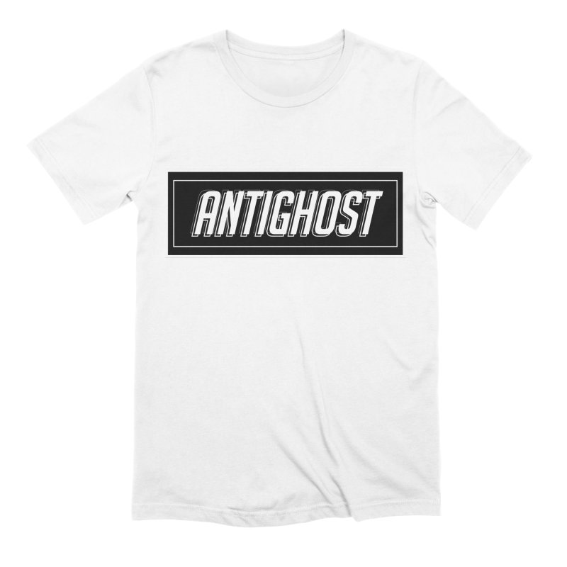 Antighost Box Logo in Men's Extra Soft T-Shirt White by antighostmusic's Artist Shop
