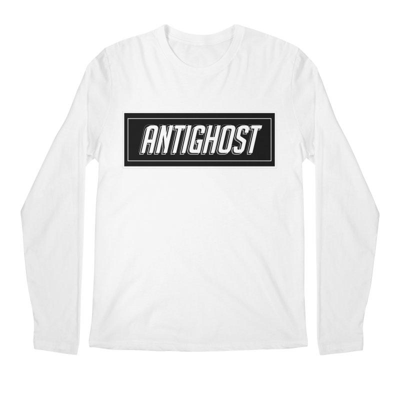 Antighost Box Logo in Men's Regular Longsleeve T-Shirt White by antighostmusic's Artist Shop
