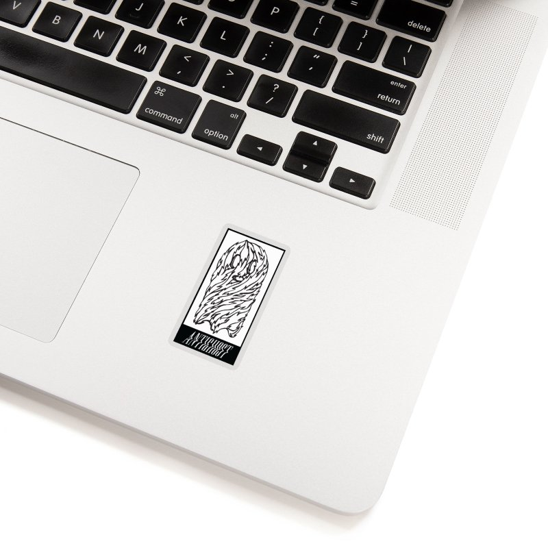Tattered Ghost in Clear Sticker by antighostmusic's Artist Shop
