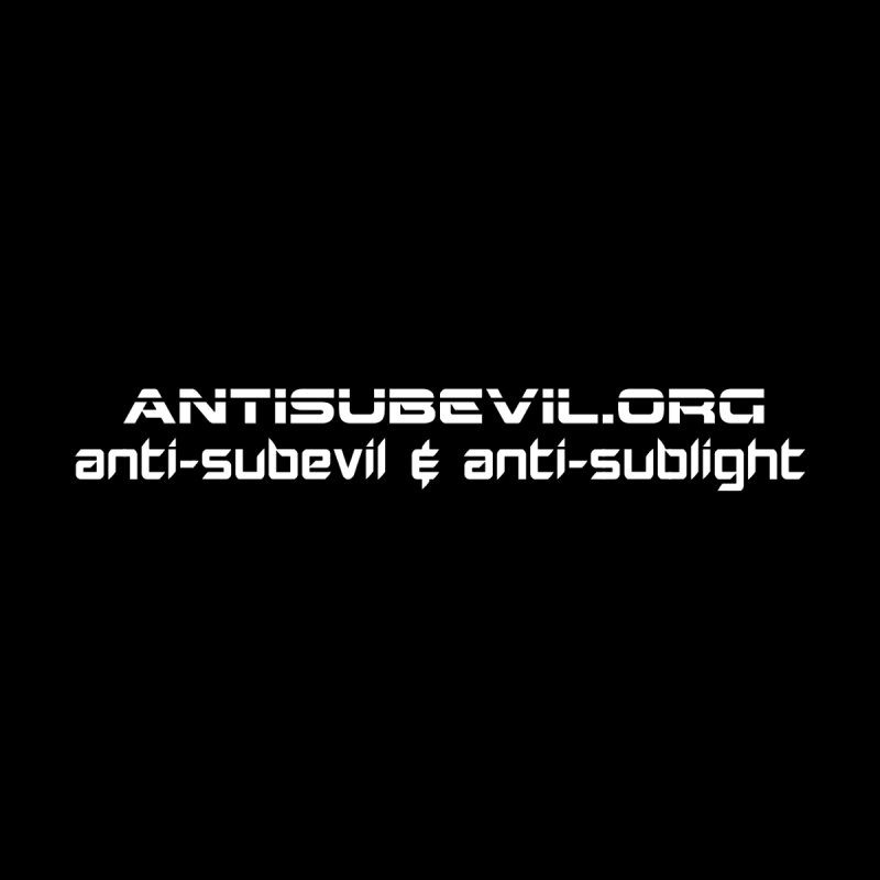 antisubevil.org Men's T-Shirt by Aspect Black™