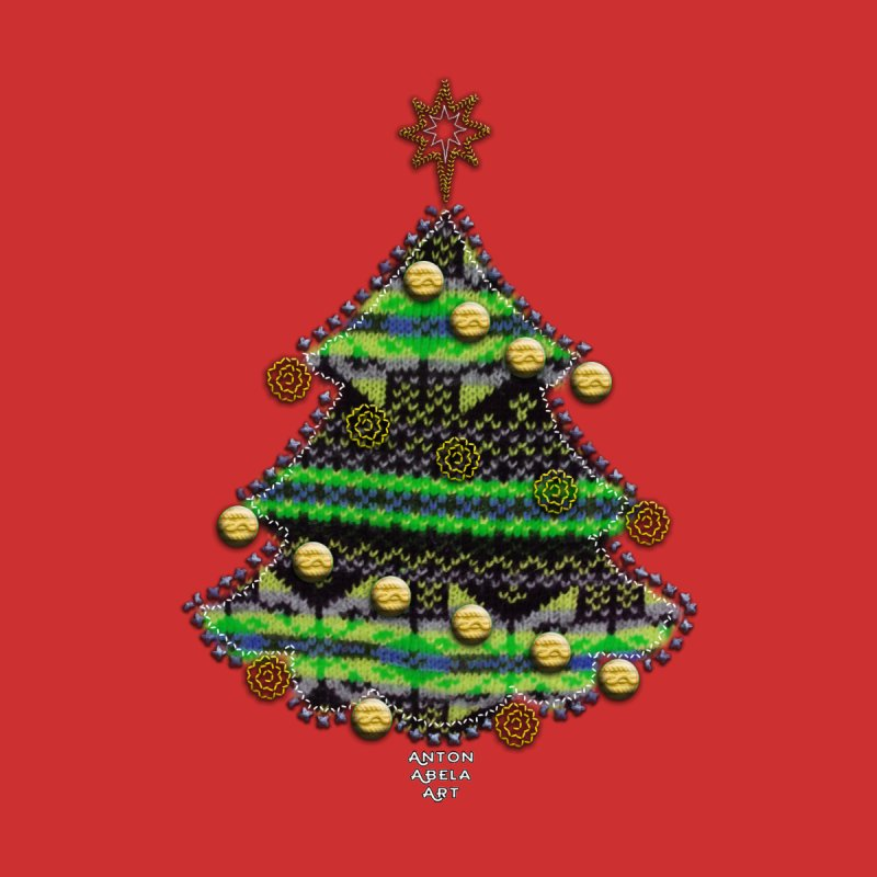 Appliqué Xmas Tree None  by AntonAbela-Art's Artist Shop