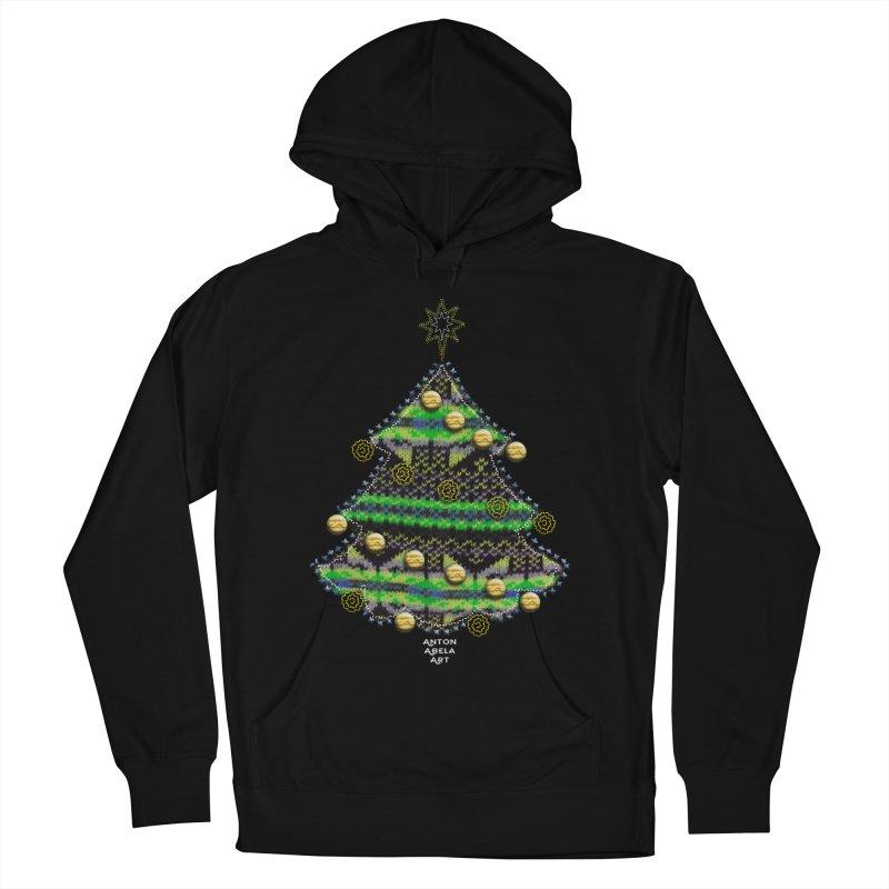 Appliqué Xmas Tree Men's Pullover Hoody by AntonAbela-Art's Artist Shop