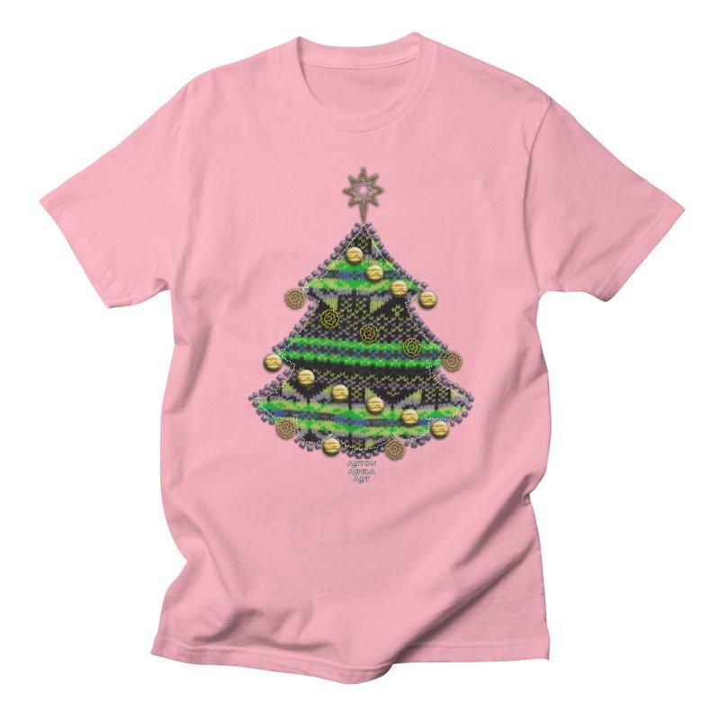 Appliqué Xmas Tree Women's Unisex T-Shirt by AntonAbela-Art's Artist Shop