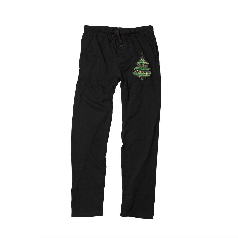 Appliqué Xmas Tree Men's Lounge Pants by AntonAbela-Art's Artist Shop