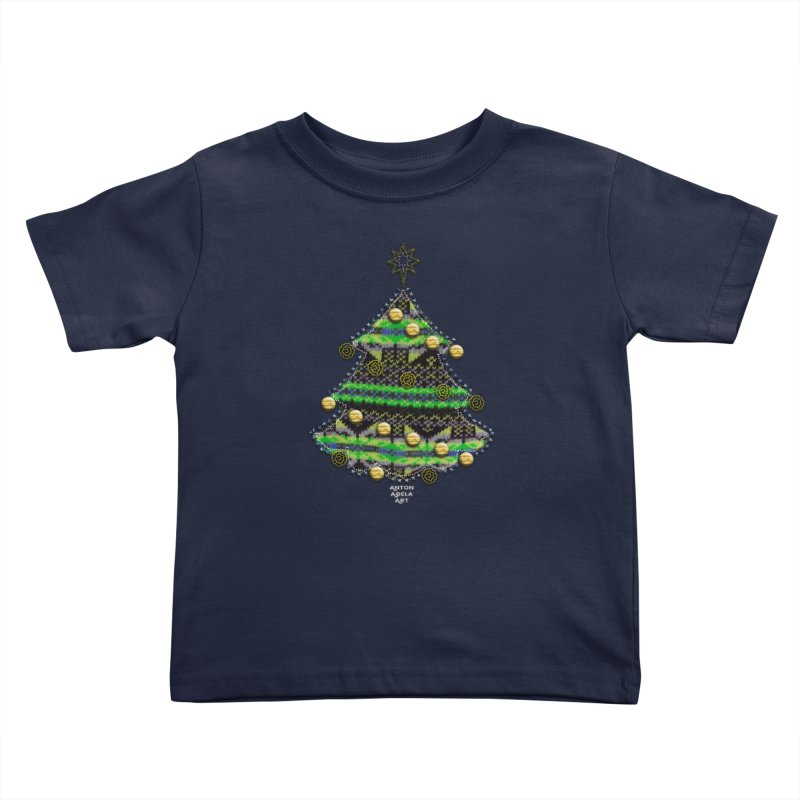 Appliqué Xmas Tree Kids Toddler T-Shirt by AntonAbela-Art's Artist Shop