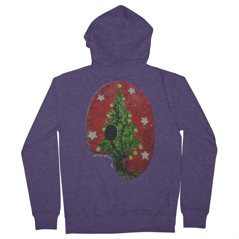 Xmas Palette Men's Zip-Up Hoody by AntonAbela-Art's Artist Shop