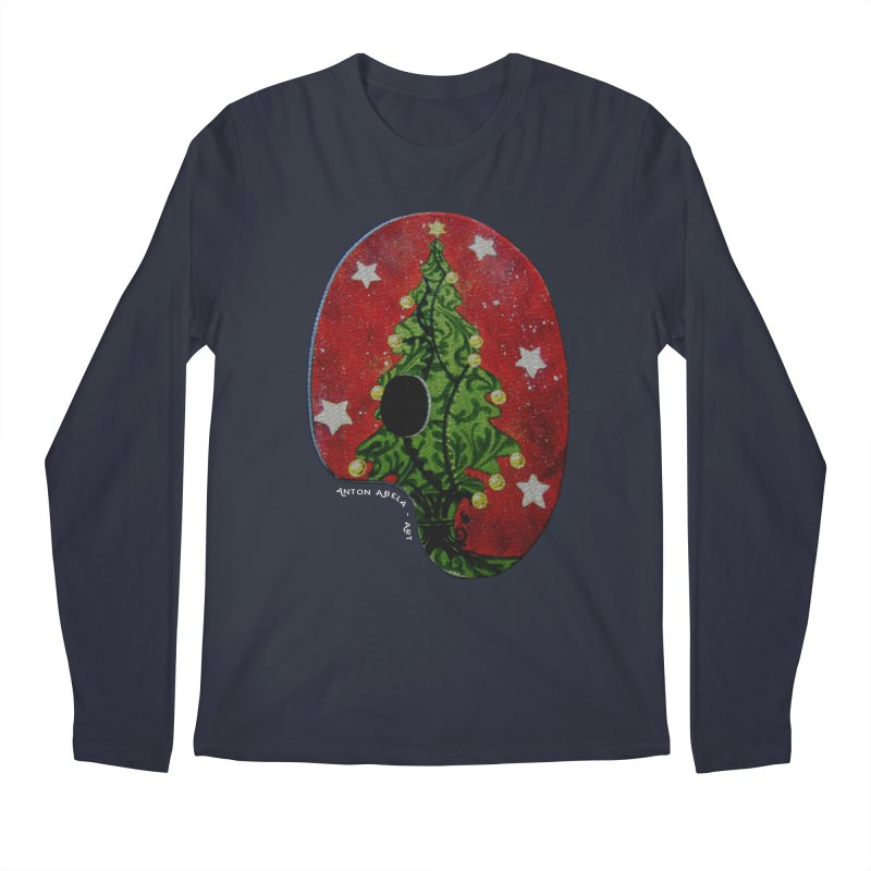 Xmas Palette Men's Longsleeve T-Shirt by AntonAbela-Art's Artist Shop
