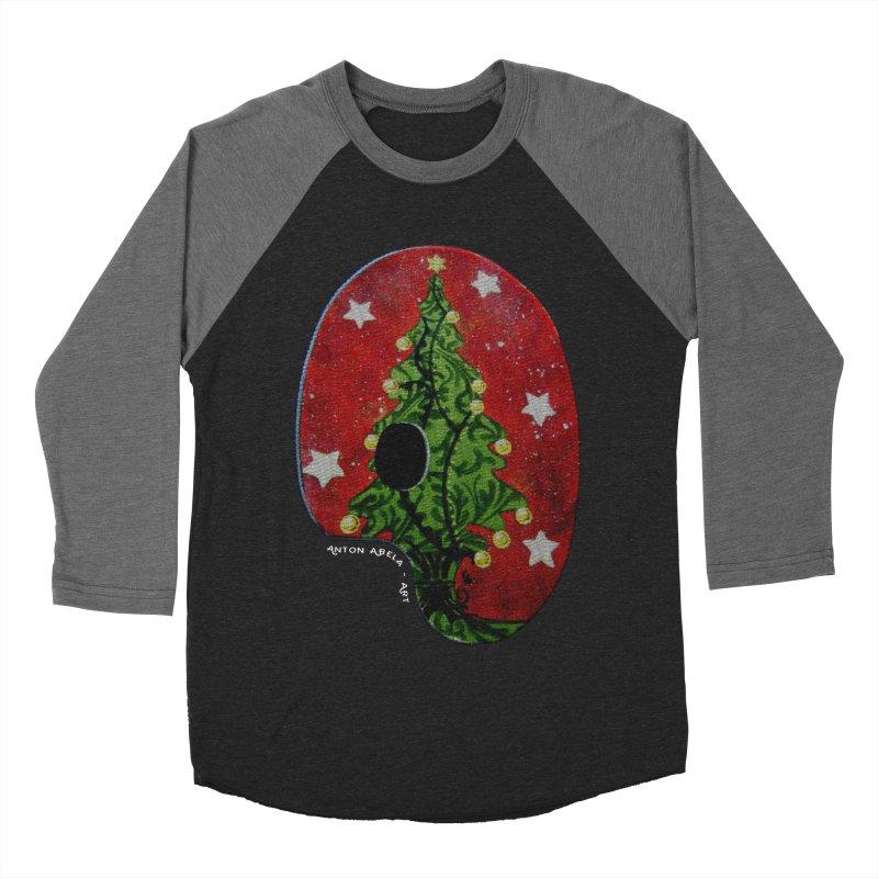 Xmas Palette Women's Baseball Triblend T-Shirt by AntonAbela-Art's Artist Shop