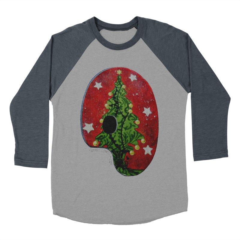 Xmas Palette Men's Baseball Triblend T-Shirt by AntonAbela-Art's Artist Shop