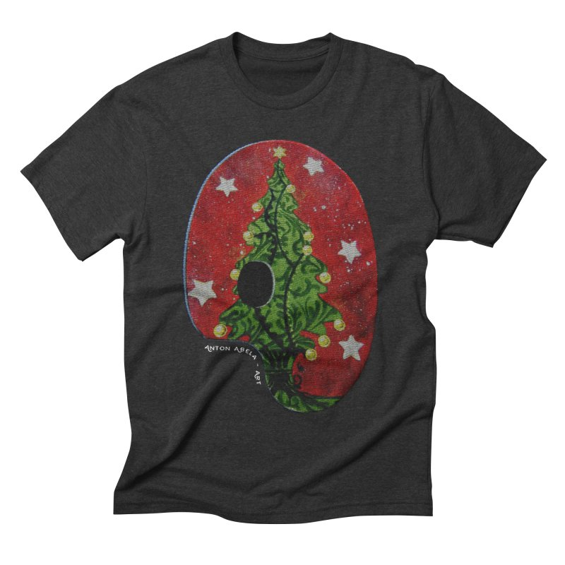 Xmas Palette Men's Triblend T-shirt by AntonAbela-Art's Artist Shop