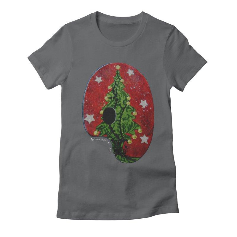 Xmas Palette Women's Fitted T-Shirt by AntonAbela-Art's Artist Shop