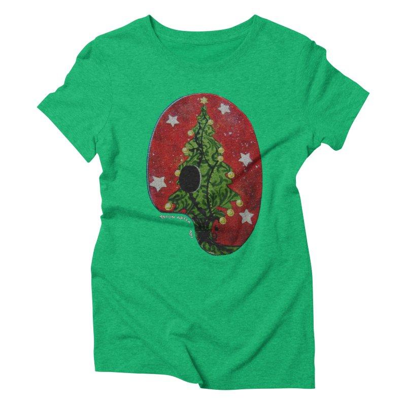 Xmas Palette Women's Triblend T-shirt by AntonAbela-Art's Artist Shop