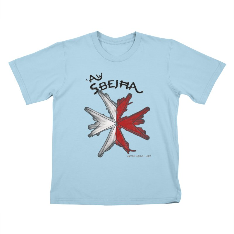 'Aw Sbeћja = Hey Beautiful (Maltese - female ref.) Kids T-shirt by AntonAbela-Art's Artist Shop