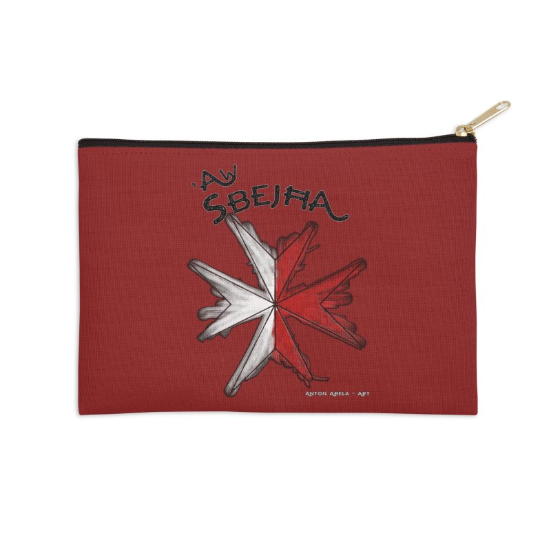 'Aw Sbejћa = Hey Beautiful (Maltese - female ref.) Accessories Zip Pouch by AntonAbela-Art's Artist Shop