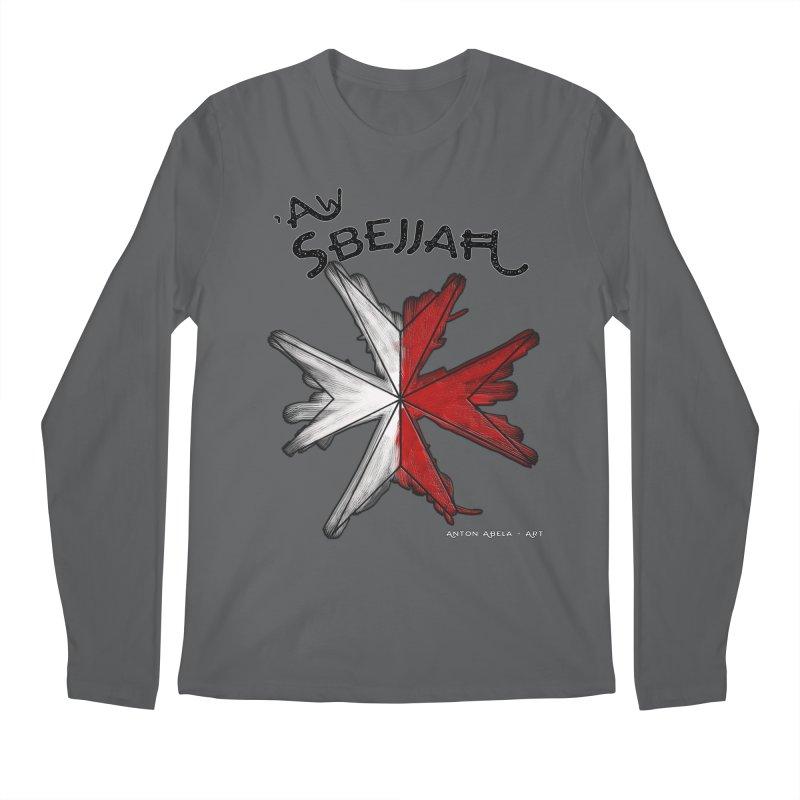 'Aw Sbejjaћ = Hey Beautiful (Maltese - male ref.) Men's Longsleeve T-Shirt by AntonAbela-Art's Artist Shop