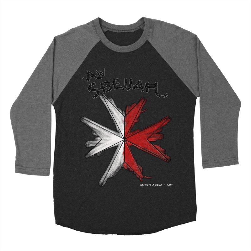'Aw Sbejjaћ = Hey Beautiful (Maltese - male ref.) Men's Baseball Triblend T-Shirt by AntonAbela-Art's Artist Shop