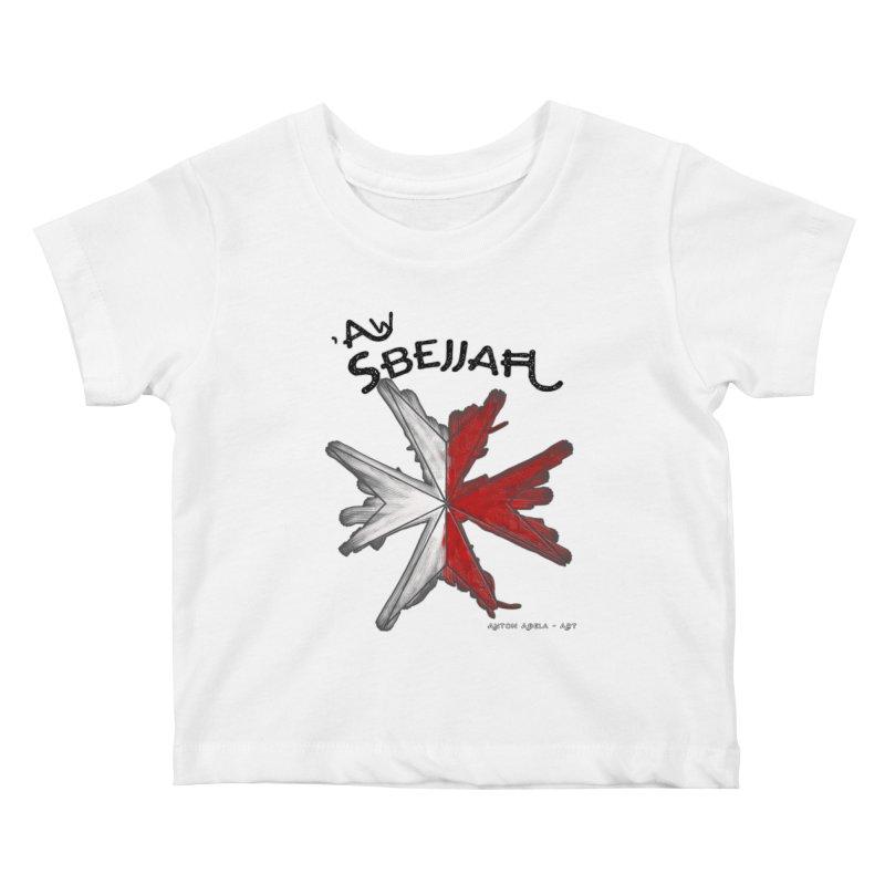 'Aw Sbejjaћ = Hey Beautiful (Maltese - male ref.) Kids Baby T-Shirt by AntonAbela-Art's Artist Shop