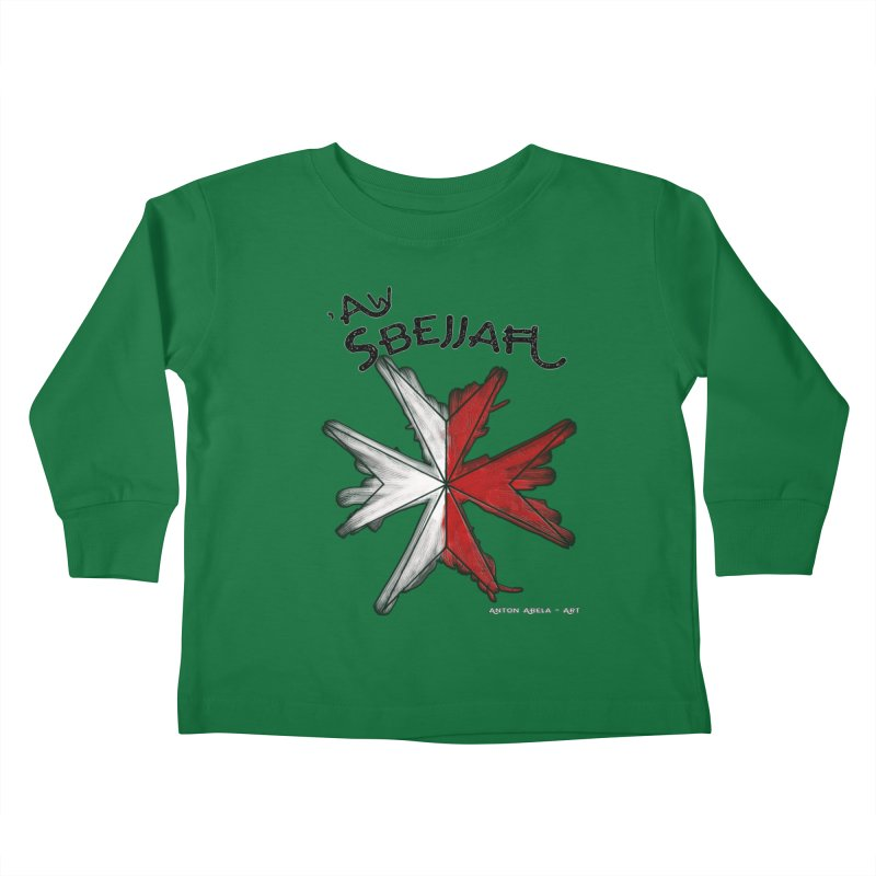 'Aw Sbejjaћ = Hey Beautiful (Maltese - male ref.) Kids Toddler Longsleeve T-Shirt by AntonAbela-Art's Artist Shop