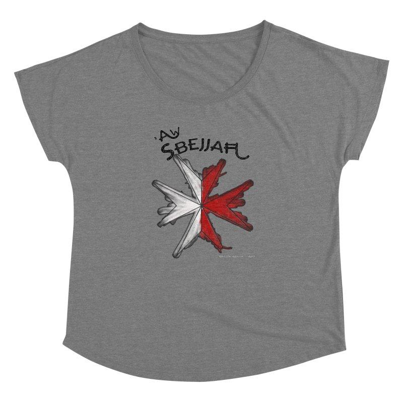 'Aw Sbejjaћ = Hey Beautiful (Maltese - male ref.) Women's Dolman by AntonAbela-Art's Artist Shop