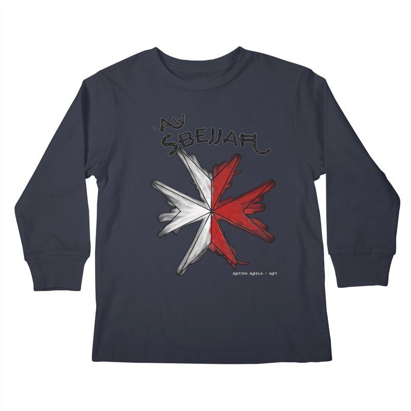 'Aw Sbejjaћ = Hey Beautiful (Maltese - male ref.) Kids Longsleeve T-Shirt by AntonAbela-Art's Artist Shop