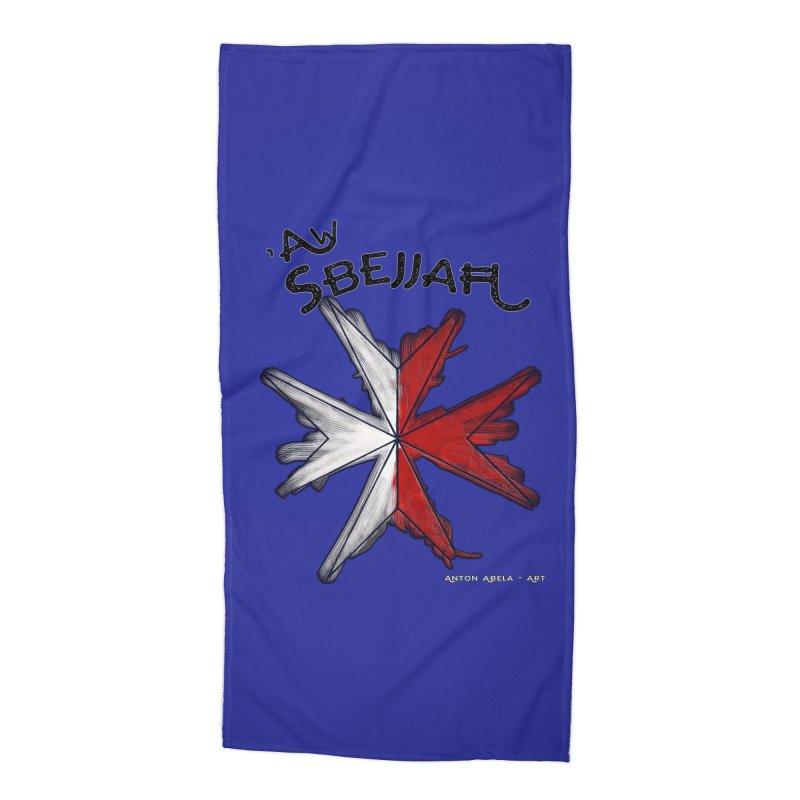 'Aw Sbejjaћ = Hey Beautiful (Maltese - male ref.) Accessories Beach Towel by AntonAbela-Art's Artist Shop