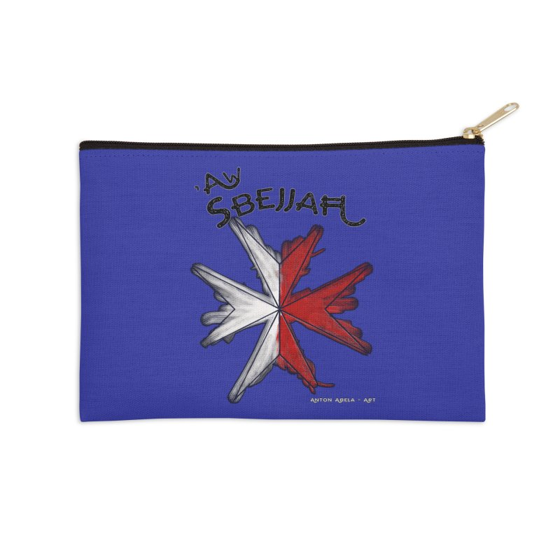 'Aw Sbejjaћ = Hey Beautiful (Maltese - male ref.) Accessories Zip Pouch by AntonAbela-Art's Artist Shop