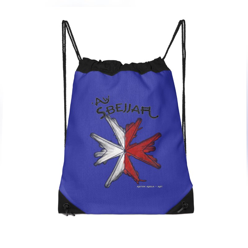 'Aw Sbejjaћ = Hey Beautiful (Maltese - male ref.) Accessories Drawstring Bag Bag by AntonAbela-Art's Artist Shop