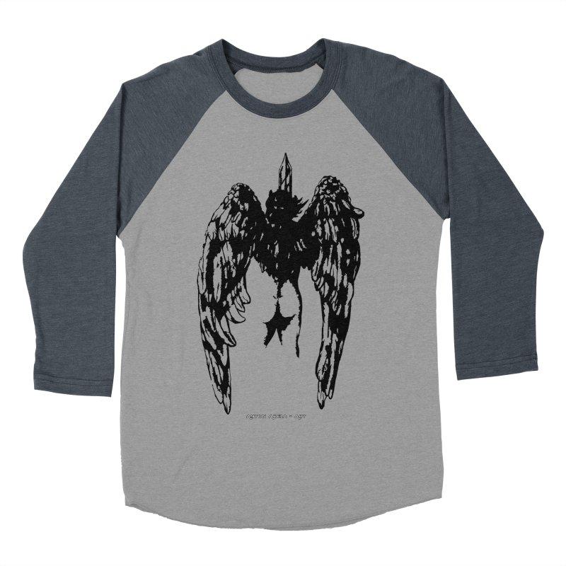 Battle Angel Men's Baseball Triblend T-Shirt by AntonAbela-Art's Artist Shop