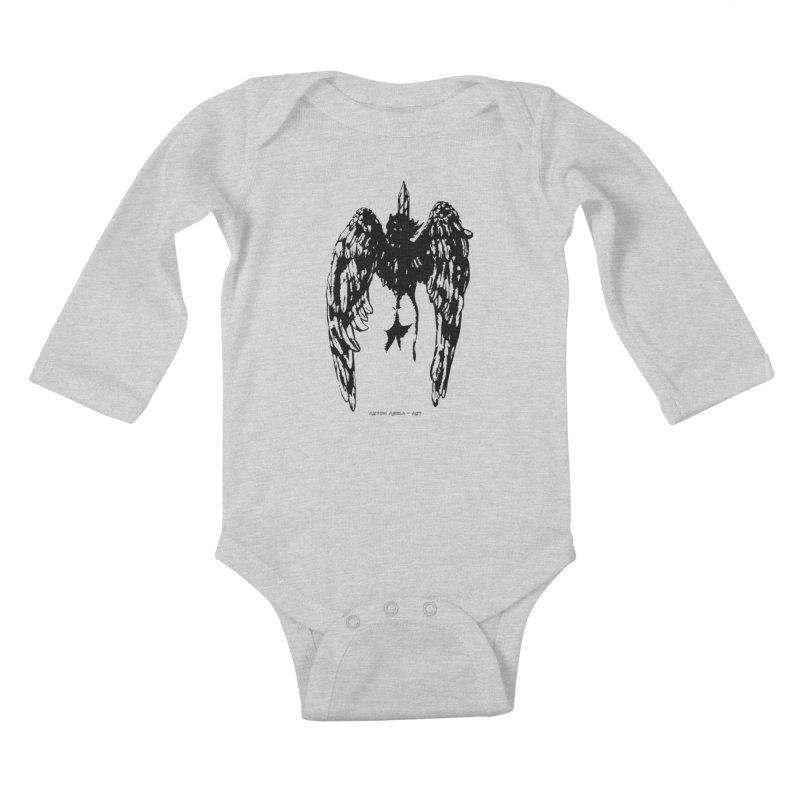 Battle Angel Kids Baby Longsleeve Bodysuit by AntonAbela-Art's Artist Shop