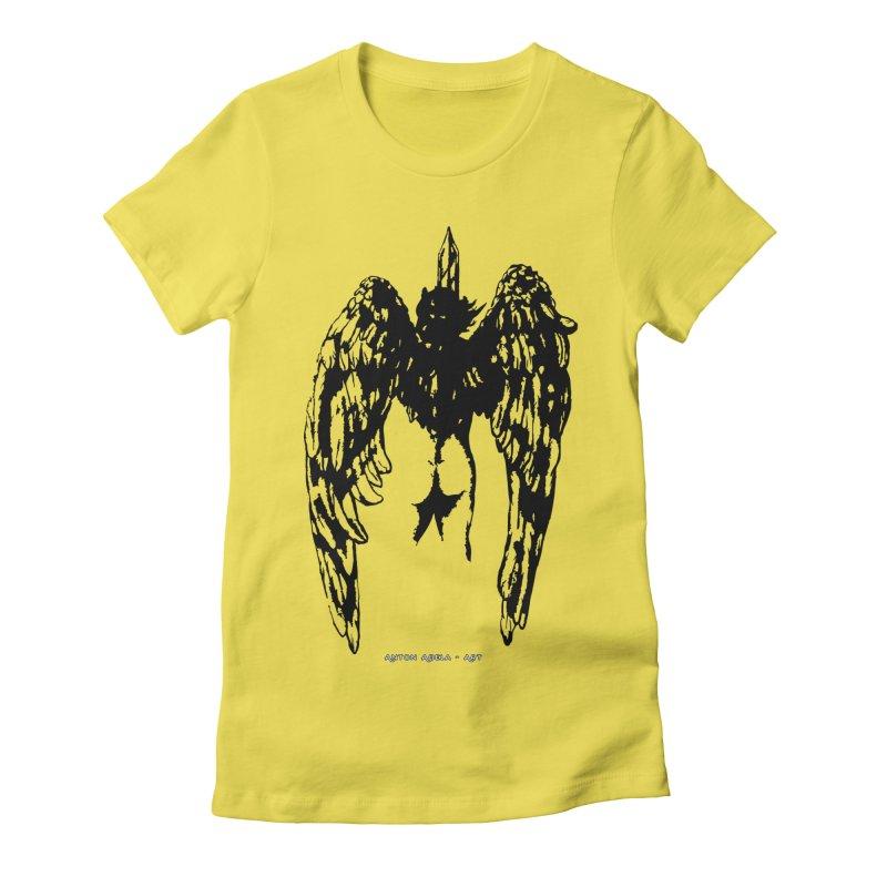 Battle Angel Women's Fitted T-Shirt by AntonAbela-Art's Artist Shop