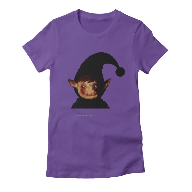 Bloody Dark Xmas Women's Fitted T-Shirt by AntonAbela-Art's Artist Shop