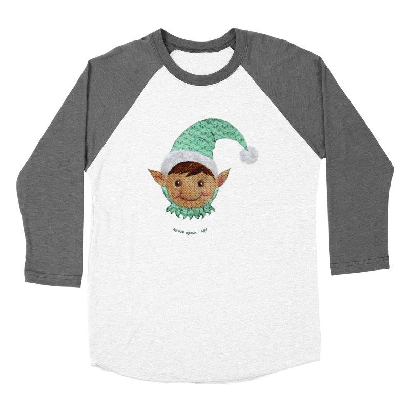 Christmas Elf Women's Longsleeve T-Shirt by AntonAbela-Art's Artist Shop