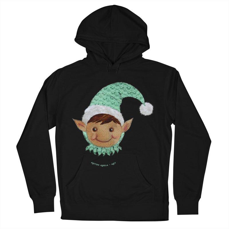 Christmas Elf Women's Pullover Hoody by AntonAbela-Art's Artist Shop
