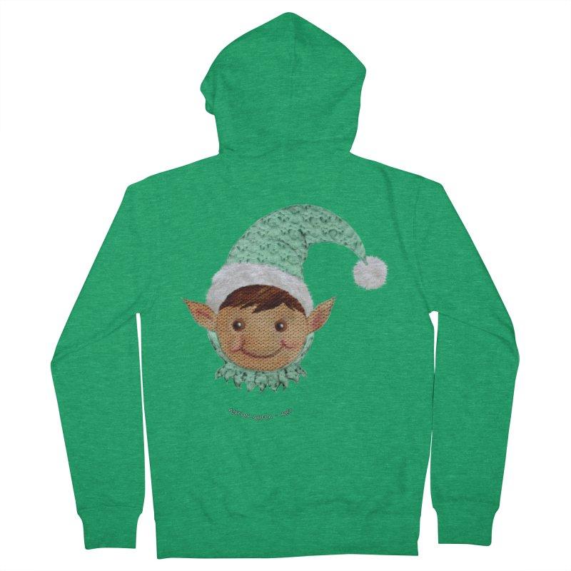 Christmas Elf Women's Zip-Up Hoody by AntonAbela-Art's Artist Shop