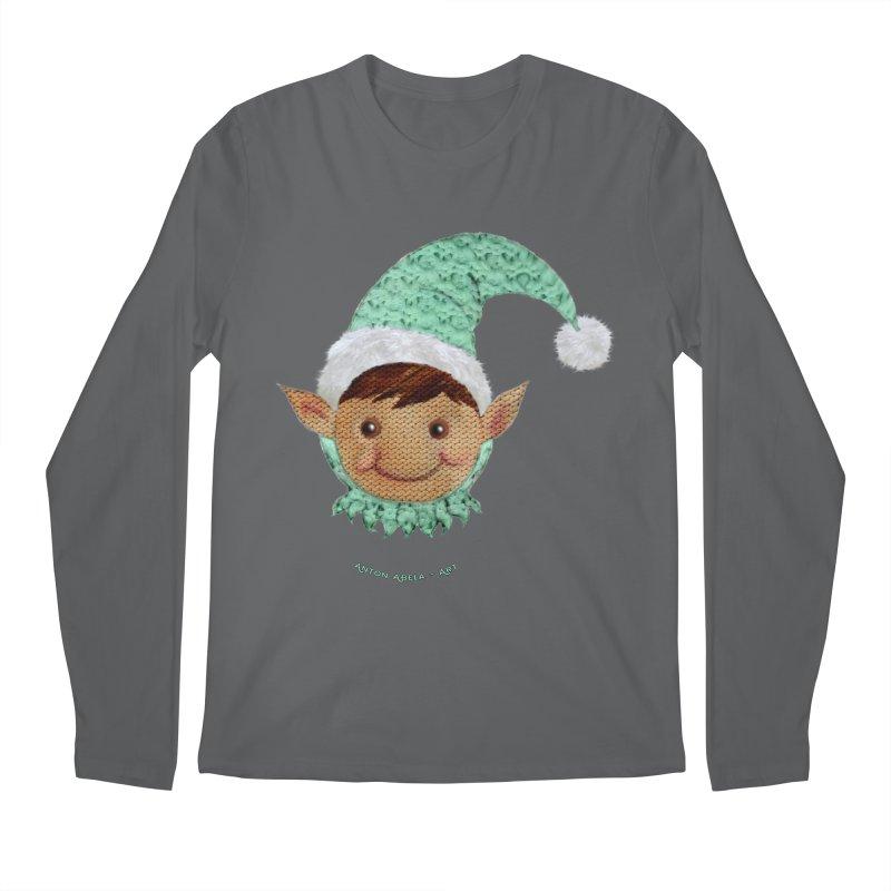 Christmas Elf Men's Longsleeve T-Shirt by AntonAbela-Art's Artist Shop